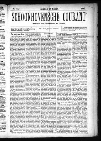 Schoonhovensche Courant 1883-03-18