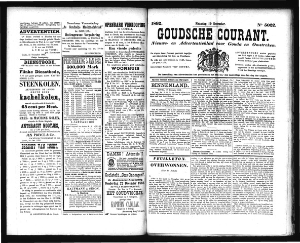 Goudsche Courant 1892-12-19