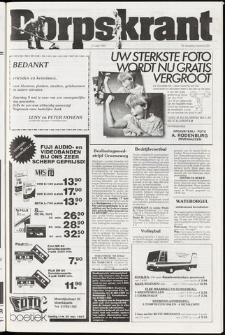 Dorpskrant 1987-05-13