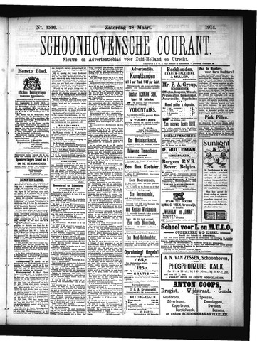 Schoonhovensche Courant 1914-03-28