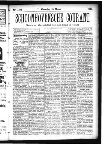 Schoonhovensche Courant 1920-03-29