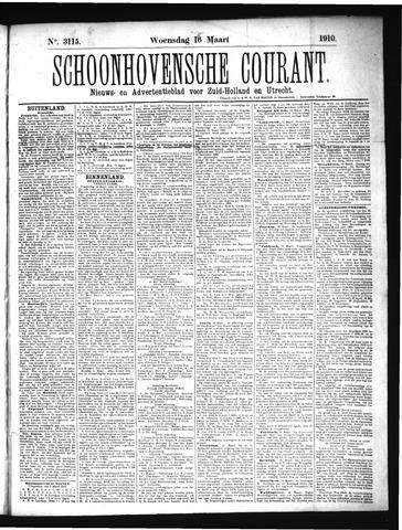Schoonhovensche Courant 1910-03-16