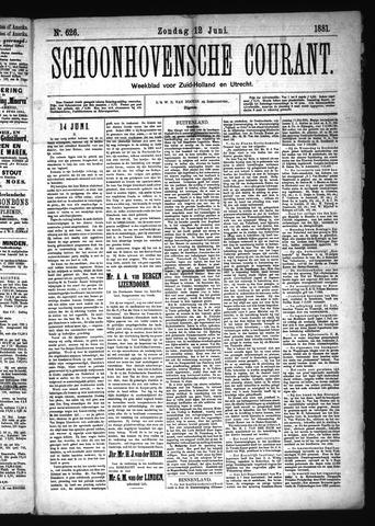 Schoonhovensche Courant 1881-06-12