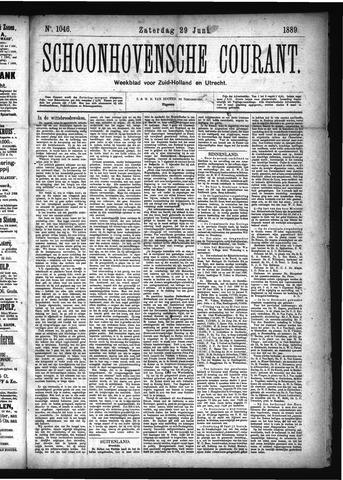 Schoonhovensche Courant 1889-06-29