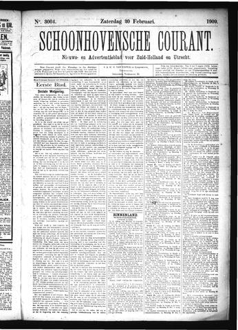 Schoonhovensche Courant 1909-02-20