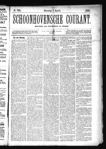 Schoonhovensche Courant 1883-04-01