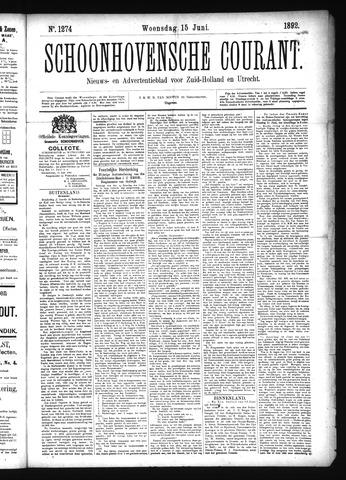 Schoonhovensche Courant 1892-06-15