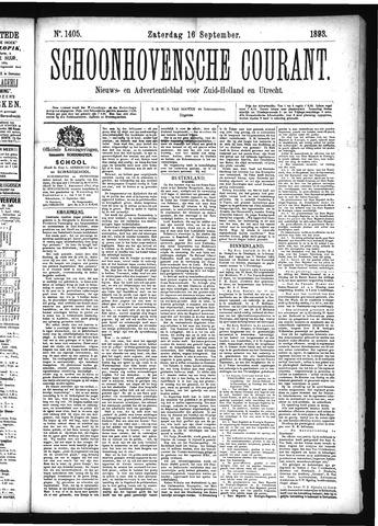 Schoonhovensche Courant 1893-09-16