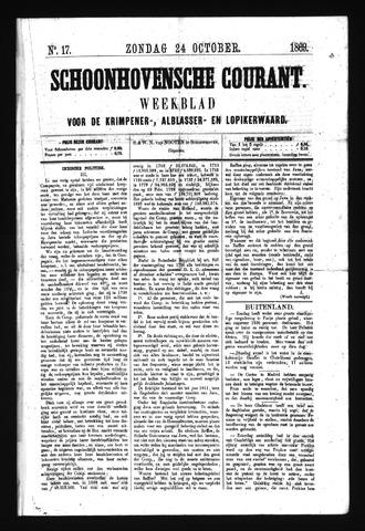 Schoonhovensche Courant 1869-10-24