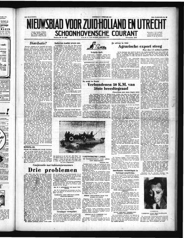 Schoonhovensche Courant 1951-02-07