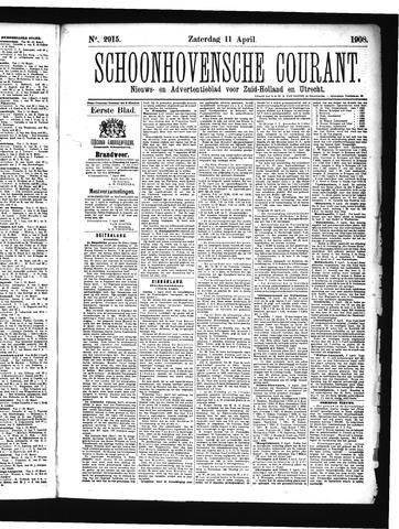Schoonhovensche Courant 1908-04-11