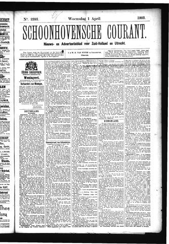 Schoonhovensche Courant 1903-04-01