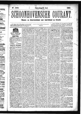 Schoonhovensche Courant 1898-07-09