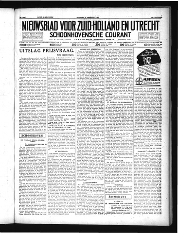 Schoonhovensche Courant 1934-11-19