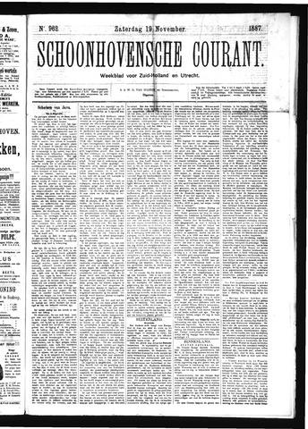 Schoonhovensche Courant 1887-11-19