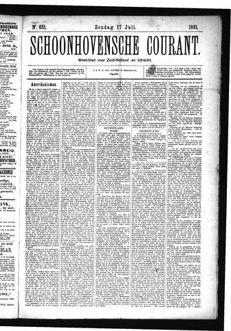 Schoonhovensche Courant 1881-07-17