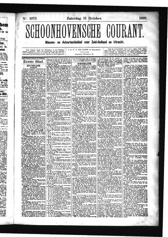 Schoonhovensche Courant 1908-10-31
