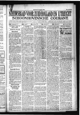 Schoonhovensche Courant 1928-08-20