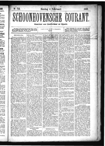 Schoonhovensche Courant 1883-02-04