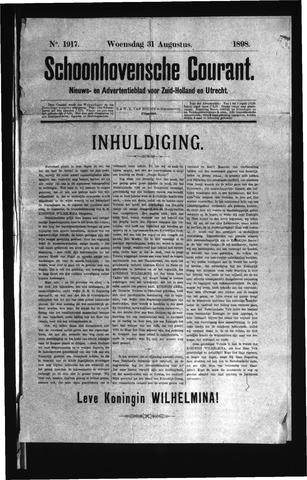 Schoonhovensche Courant 1898-08-31