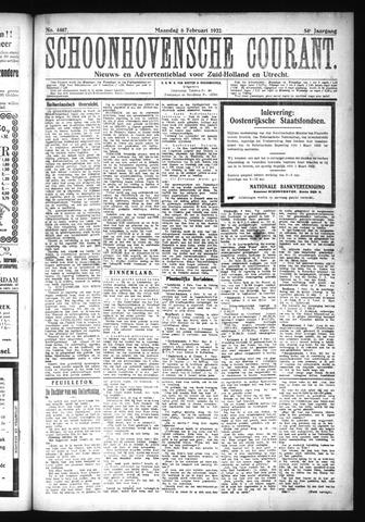 Schoonhovensche Courant 1922-02-06