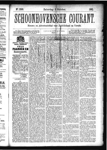Schoonhovensche Courant 1891-10-03