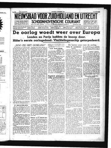 Schoonhovensche Courant 1939-09-04