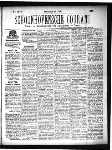 Schoonhovensche Courant 1915-07-13