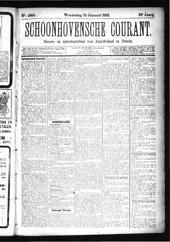 Schoonhovensche Courant 1921-01-12