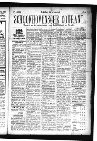Schoonhovensche Courant 1915-01-22
