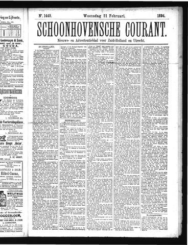 Schoonhovensche Courant 1894-02-21