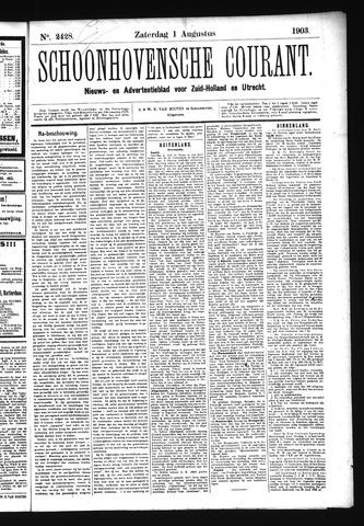 Schoonhovensche Courant 1903-08-01