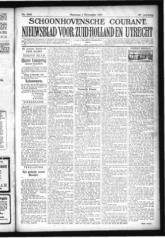 Schoonhovensche Courant 1927-11-07
