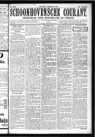 Schoonhovensche Courant 1924-09-08