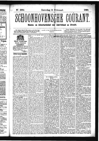 Schoonhovensche Courant 1899-02-11
