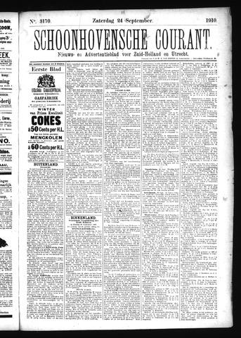 Schoonhovensche Courant 1910-09-24