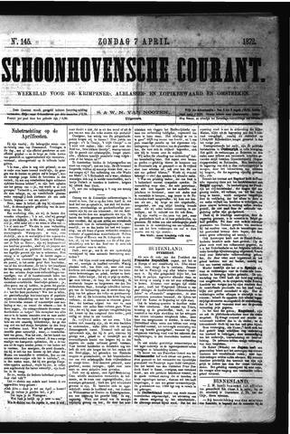 Schoonhovensche Courant 1872-04-07