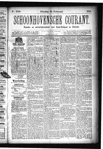 Schoonhovensche Courant 1916-02-22