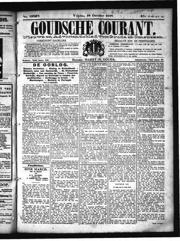 Goudsche Courant 1918-10-18