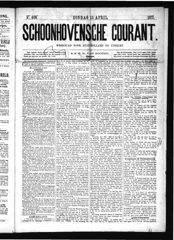Schoonhovensche Courant 1877-04-15