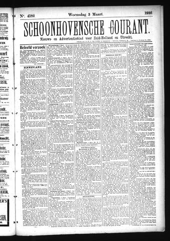 Schoonhovensche Courant 1920-03-03