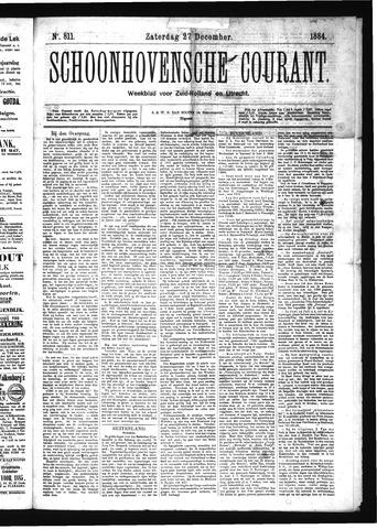 Schoonhovensche Courant 1884-12-27