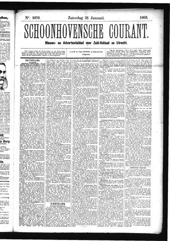 Schoonhovensche Courant 1903-01-31