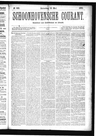 Schoonhovensche Courant 1885-05-23