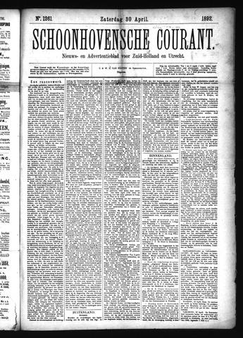 Schoonhovensche Courant 1892-04-30