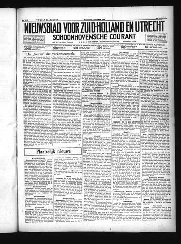 Schoonhovensche Courant 1934-10-08