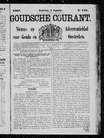 Goudsche Courant 1863-08-06