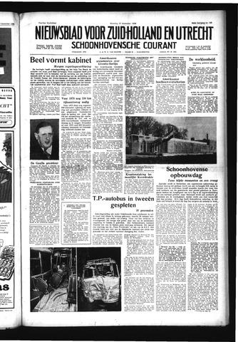 Schoonhovensche Courant 1958-12-22