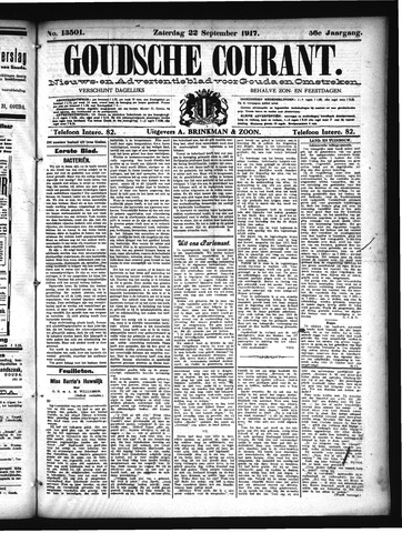 Goudsche Courant 1917-09-22
