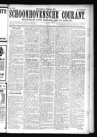 Schoonhovensche Courant 1925-02-11